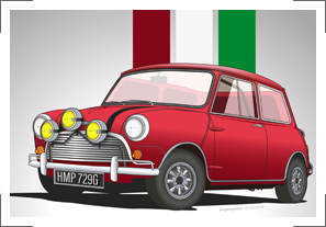 The Italian Job's '69 Austin Mini Cooper S