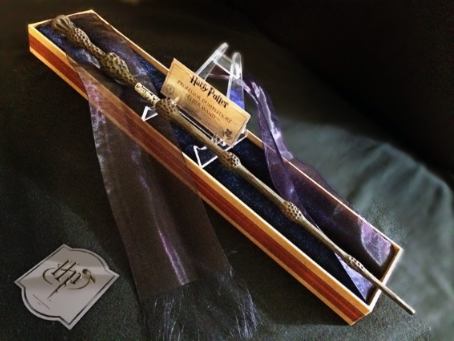 Pin harry potters collector wand wall display the wands for Elder wand display